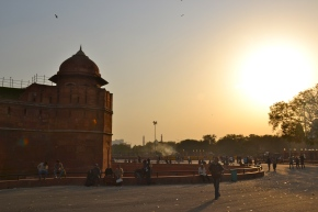 Sunset by the Lal Quila